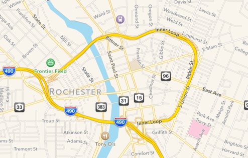 The Inner Loop as viewed on Apple Maps