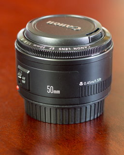 Photo of the Canon EF 50mm f/1.8 II lens